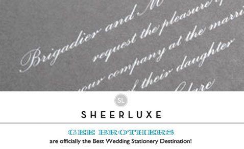 Sheerluxe Banner, perfect bespoke stationery