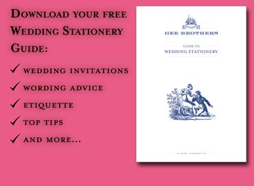 Free Wedding Stationery Guide, perfect bespoke stationery